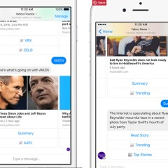 Yahoo introduces finance, news and weather bots to Facebook Messenger