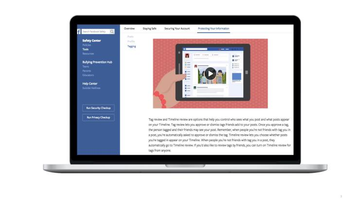 Facebook's Safety Center relaunch promotes safe sharing worldwide
