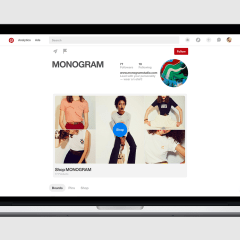 Pinterest's Business Profiles wearing new looks; including a new rotating showcase
