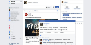 Facebook testing pop-up post on desktop