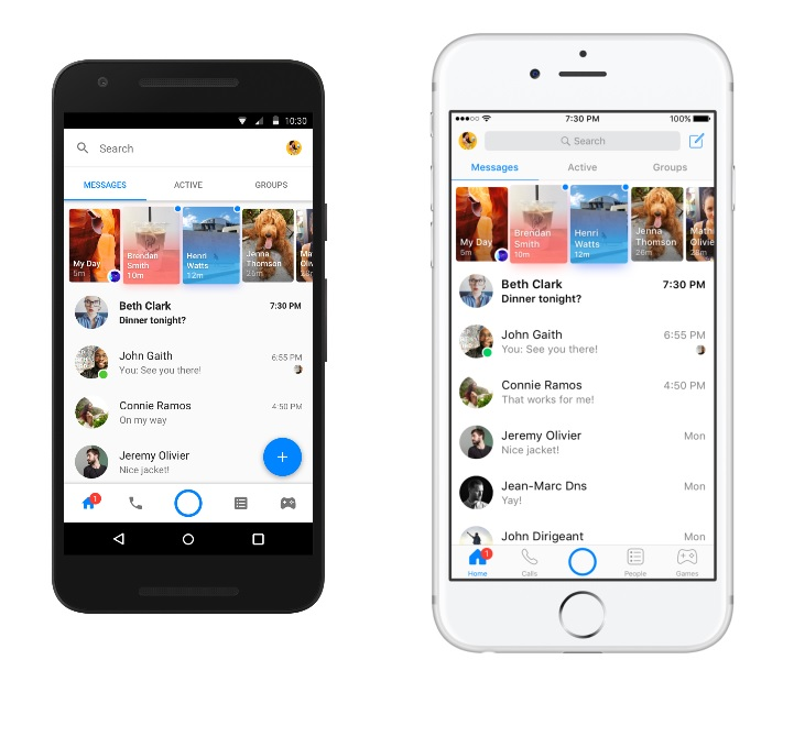 Facebook Messenger Focuses Navigation Revised Home Screen