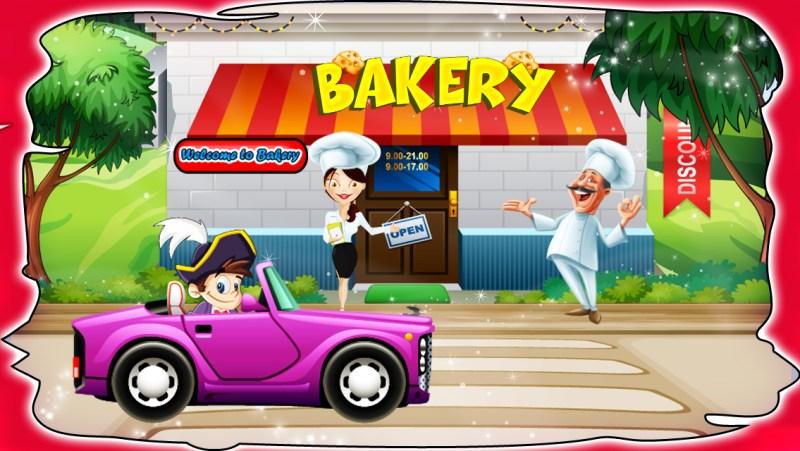 Fun in bakery shop