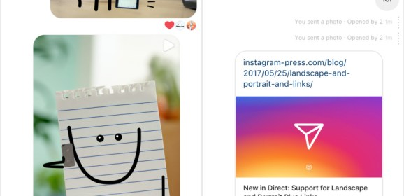 Instagram adds web link support to its Direct messages features