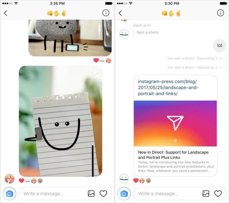 Instagram Direct Message Link