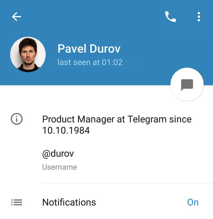 Telegram Bio
