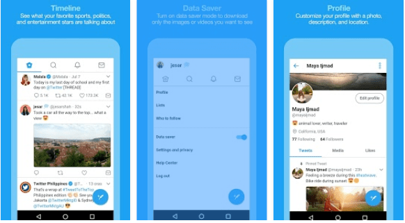 Twitter testing Android app that uses less mobile data