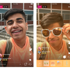 Instagram is rolling out the ability to add filters to live video