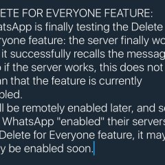 WhatsApp Is In Its Final Stage Of Testing Unsend Feature