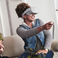 Facebook's Oculus Go is a standalone VR headset that requires no phone or PC
