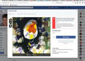 Facebook bans artist's Christmas cards for being explicit