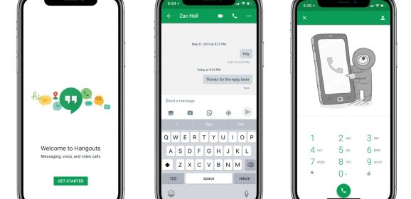 Google updates Hangouts for iOS with support for the iPhone X