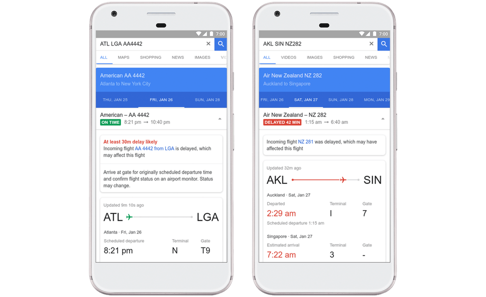 Google Flights now predicts delays and makes sense of cheaper tickets
