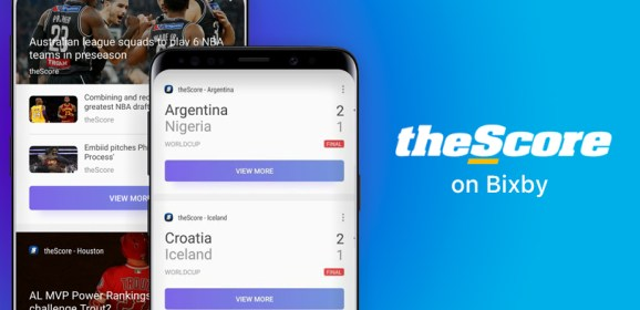 Samsung updates Bixby with sports score and trending news from theScore