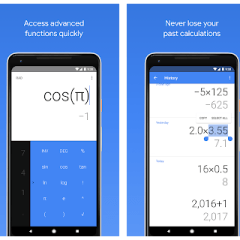 Google Calculator wears a new look