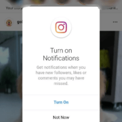 Instagram has added a browser notification feature