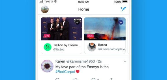 Twitter adds live broadcast atop your timeline