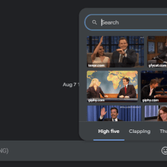 Google added GIFs support to Messages for web