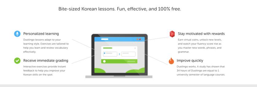 Duolingo Learn Korean App