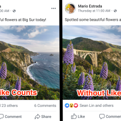 Facebook starts hiding likes count