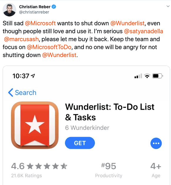 New Microsoft To Do Looks Like Old Wunderlist