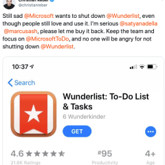 Wunderlist Creator Wants to Buy the App Back as Microsoft Plans to Shut It Down