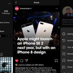 Instagram's dark mode is here