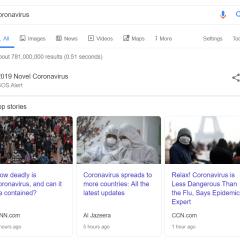 Google Search adds coronavirus SOS alert