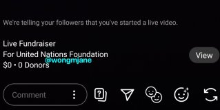 Instagram is working on a new Live Fundraiser feature