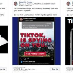 Trump campaign sponsors Facebook, Instagram ads against TikTok