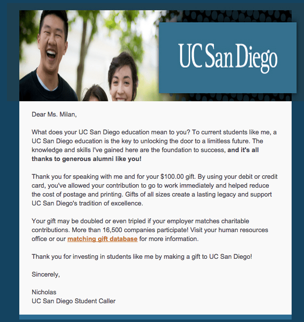 UCSD Thanks