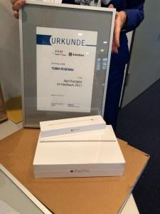 Preis für Platz 1: iPad Pro und Stift
