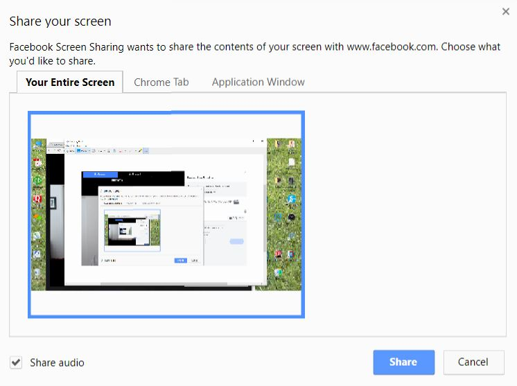 How to share your screen on Facebook Live with no third party apps