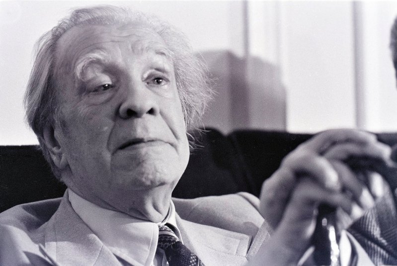05/03/1981, Istituto Italo Latino Americano. Jorge Luis Borges a Roma per ricevere il premio Balzan