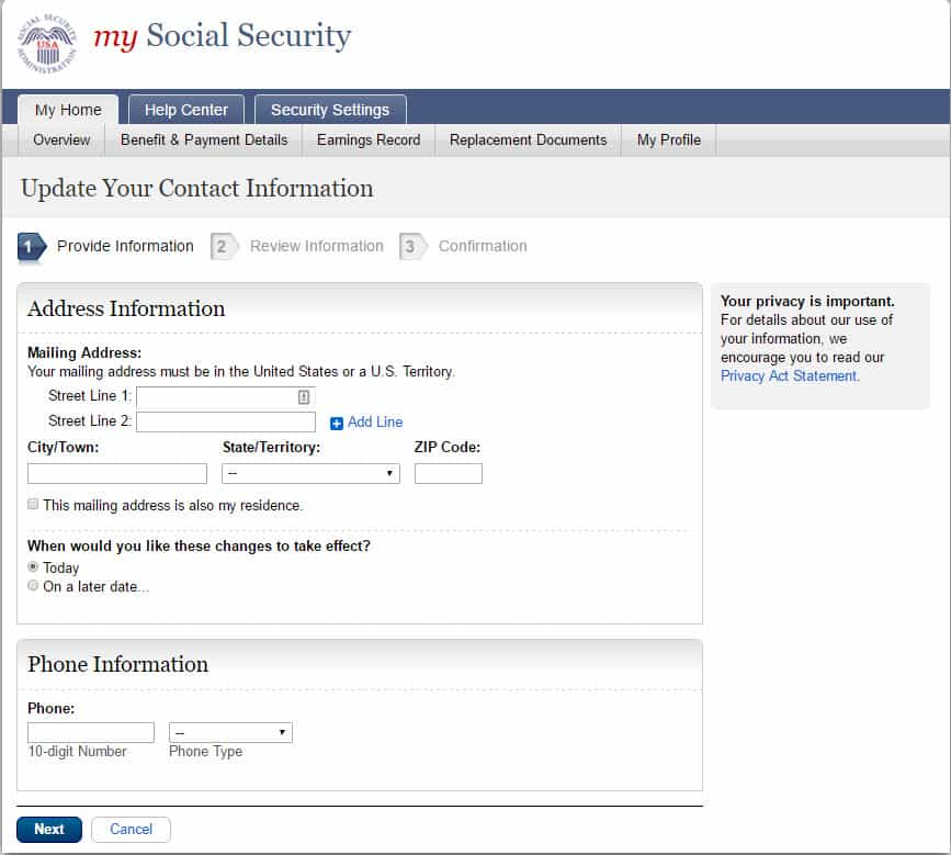 Social Security Change of Address - How To Guide - social security change of address