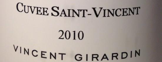 2010 Vincent Girardin Bourgogne Rouge Cuvee Saint-Vincent