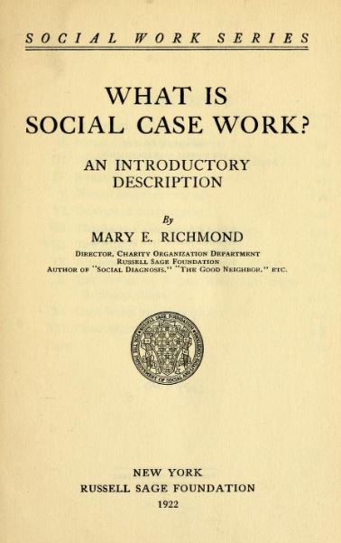 mary-richmond-what-is-social-case-work-title-page - Social Welfare