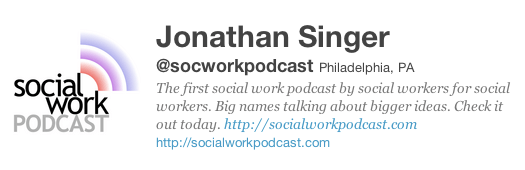 A tweet by @socworkpodcast