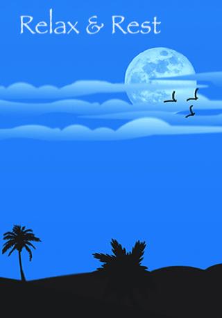 Scene of a moonlit landscape