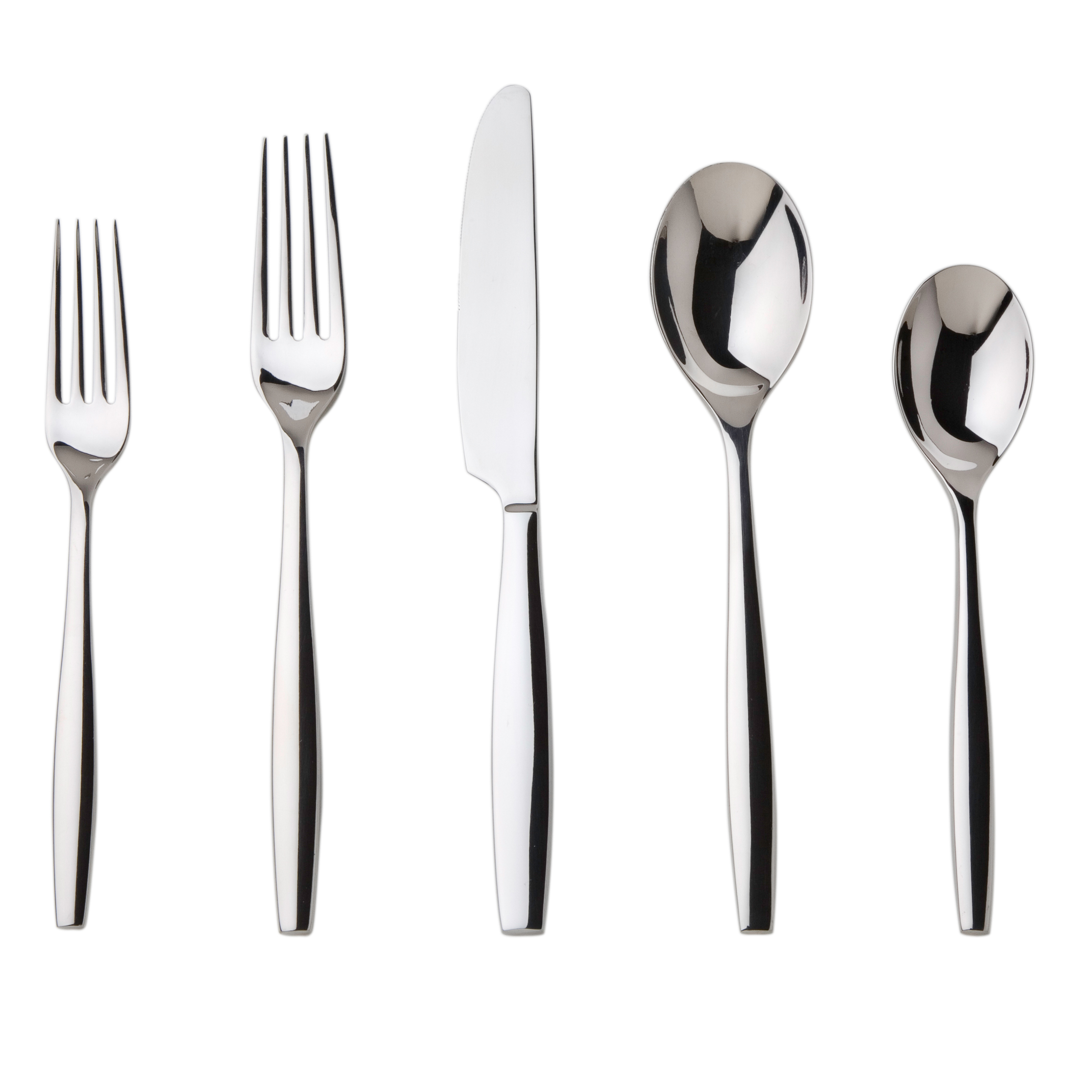 Contemporary Stainless Steel Flatware Aidan Flatware Modern Look With A Clean Design Includes