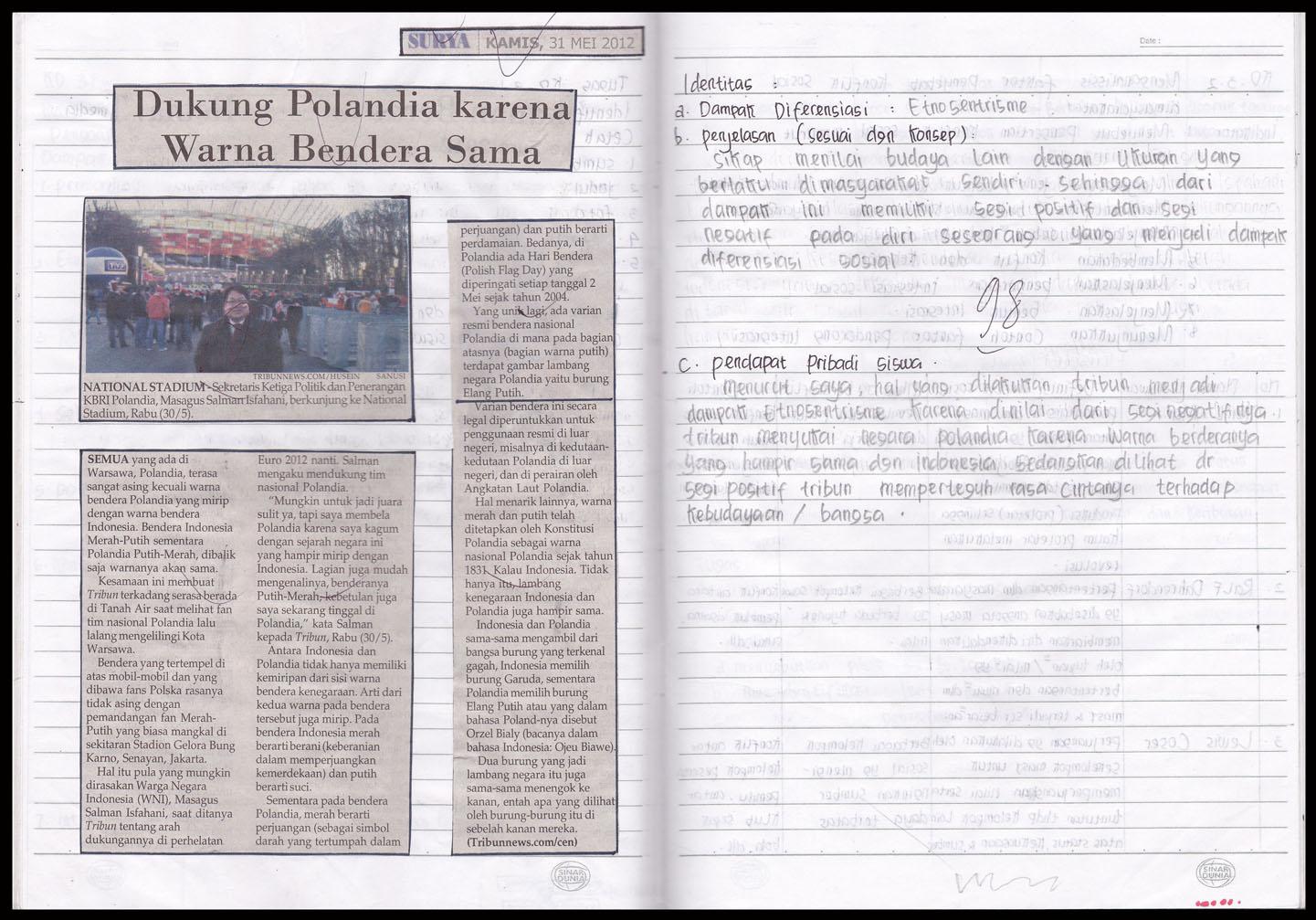 Contoh Berita Di Media Cetak Contoh Surat Berita Acara Kehilangan Barang Perusahaan Contoh Tugas Kd32 Kelas Xi Ips