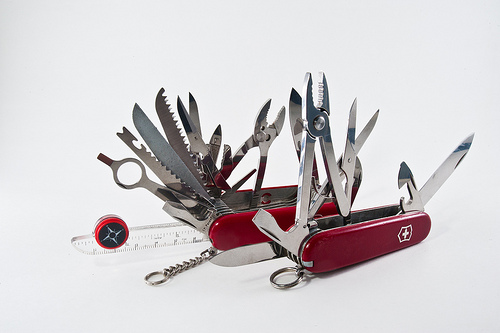 a community manager is polyvalent like a swiss army knife