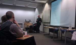 SoCS staff presenting to Computing School Teachers from the Lincolnshire region