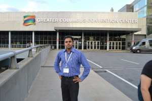 Touseef outside the conference centre