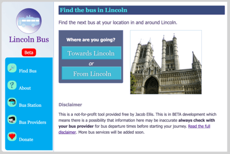 Lincoln Bus Website
