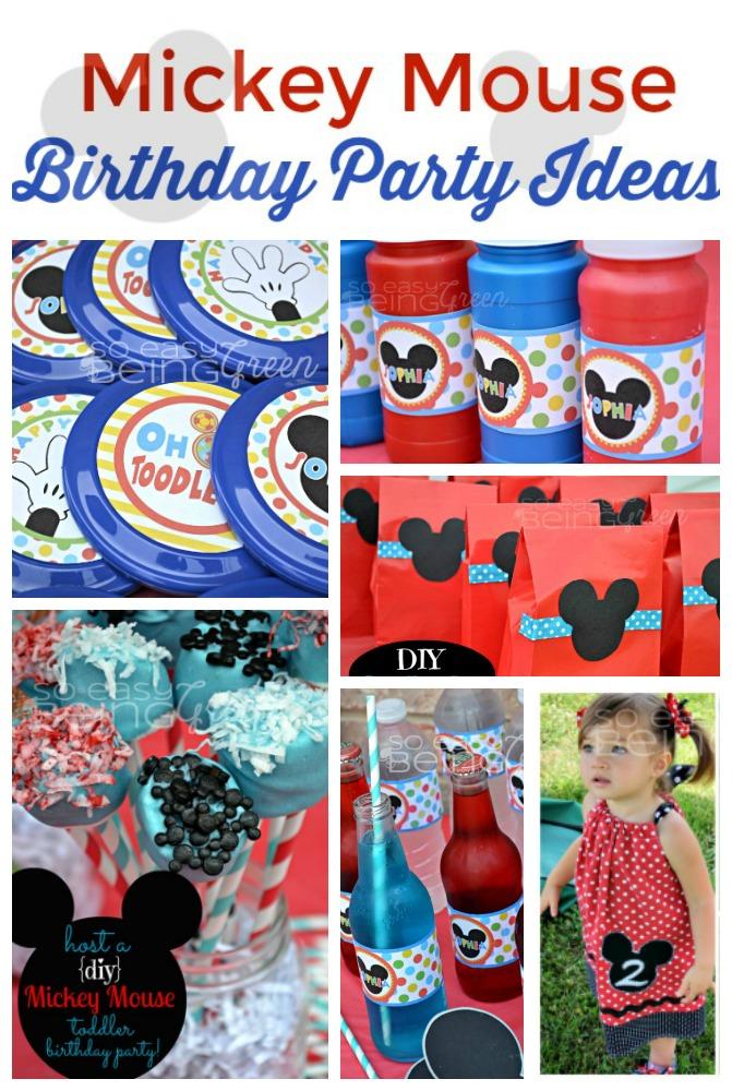 DIY Mickey Mouse Birthday Party Ideas - mickey mouse boy birthday party ideas