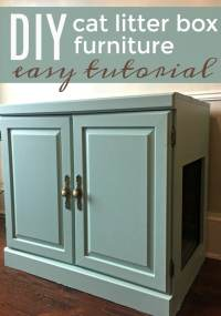Old Cabinet to Cat Litter Box Furniture - WOW! Hide a ...