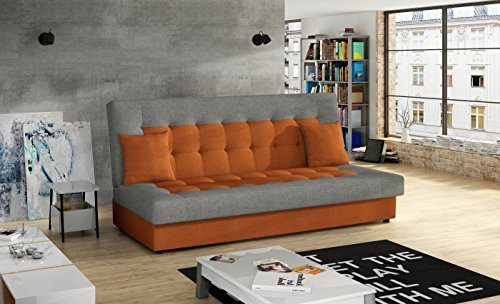 Günstige Big Sofa Modernes Schlafsofa Orange/grau
