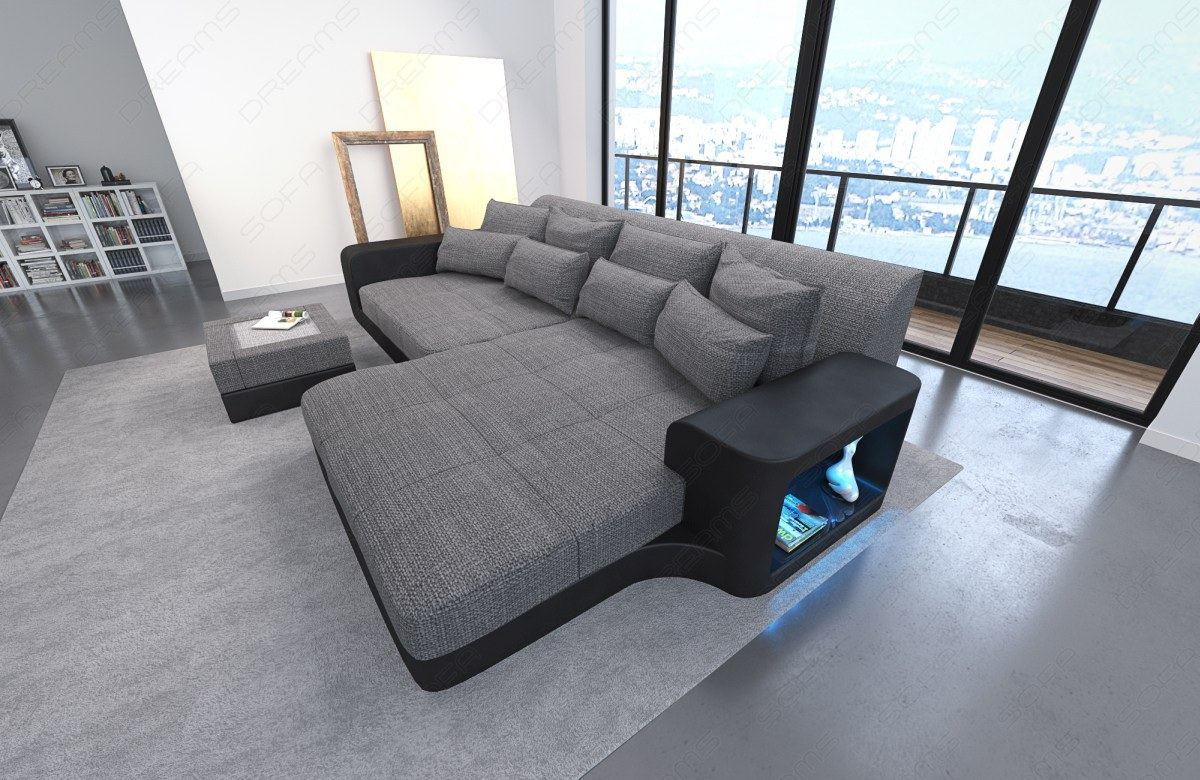 Big-sofa, Energieeffizienz: A Big Sofa Led Big Fabric Sofa Miami With Led Big Sofa Leder Braun