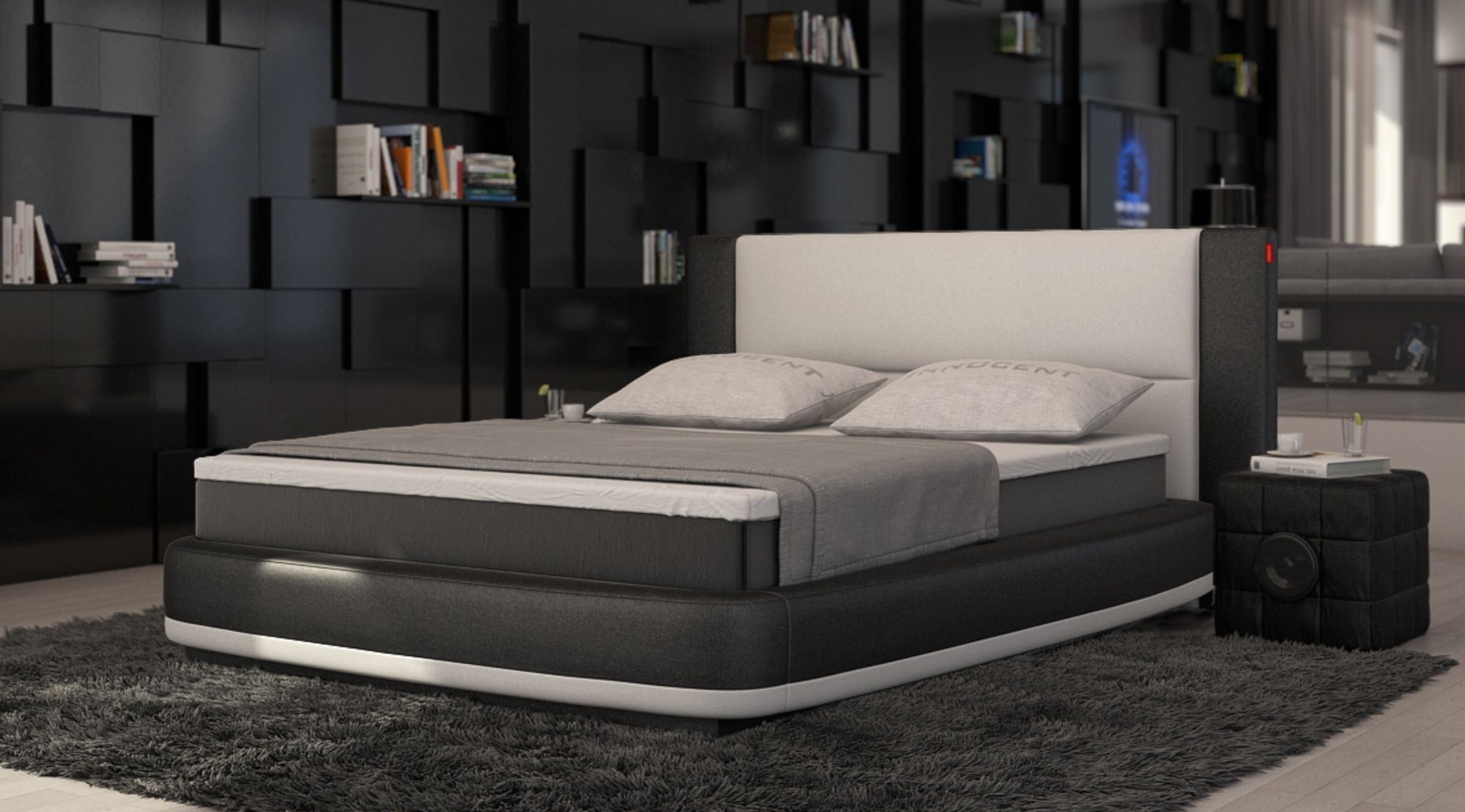 Bett Modern Design Box Spring Bed Aquila Design Upholstered Bed Designerbett ...