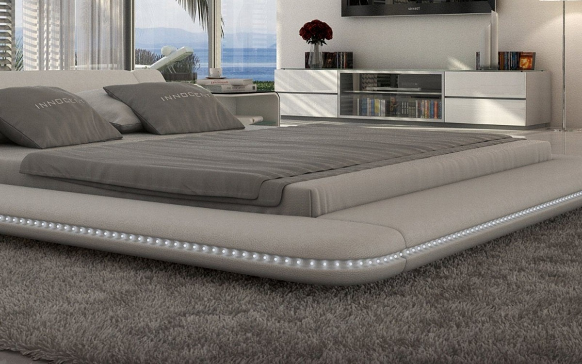 Sessel Leder Weiss Polsterbett Luxus Bett Custo Led Designerbett Mit Led